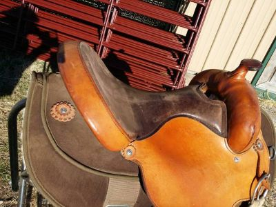 Two colored western saddle for sale
