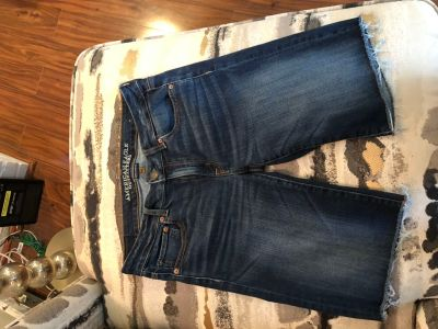 American Eagle Long Jean Shorts
