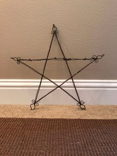 Vintage Barbed Wire Star