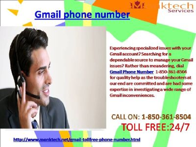 How Might I Avail Gmail Phone Number By 1-850-361-8504?