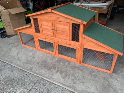 Chicken/rabbit coop hutch , new