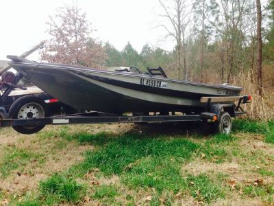 Fiberglass boat and trailer