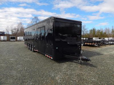 Blacked Out 8.5x32 Enclosed Car Trailer