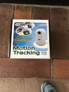 Brand new motion tracking web cam. $10.00