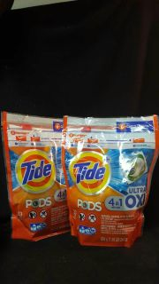 Two! 23 count tide pods 4 in 1 ultra oxi