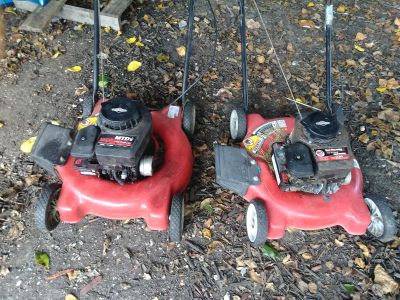 Two lawn mowers for sale