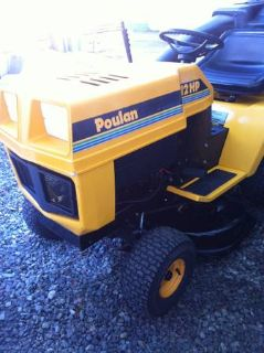 lawn tractor with bagger 12hp 6speed