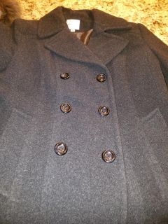 Pea coat loose buttons