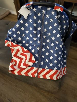 Patriotic car seat cover