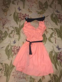 Beautiful women s American Eagle dress size XS excellent condition coral and navy blue