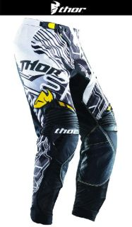 Find Thor Core Fusion Yellow Black Sizes 28-44 Dirt Bike Pants Motocross MX ATV '14 motorcycle in Ashton, Illinois, US, for US $149.95