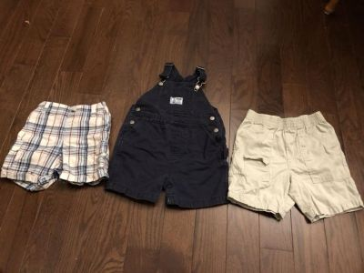 Lot of shorts and overalls. Size 24 months.