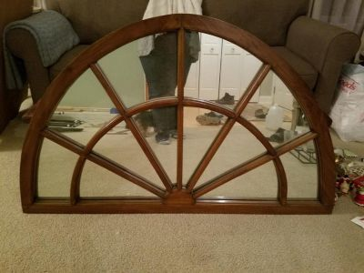 Huge Wood Rustic Arched Mirror!!