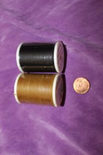New and Sealed Polyester Yarn: Black and Antique Bronze