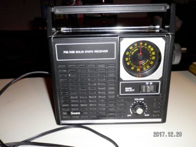 Vintage Sears radio, am/fm, works great