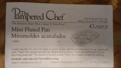 NEW Pampered Chef 4 1/2# mini fluted pan (6)