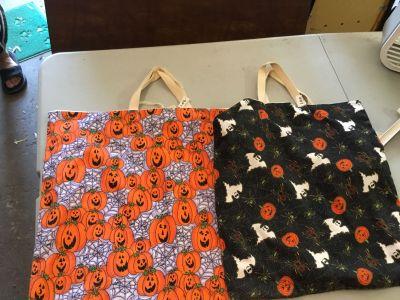 Handmade Halloween bags set of two