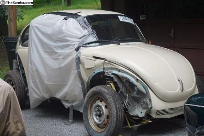 Pair of 1973 Super Beetle projects