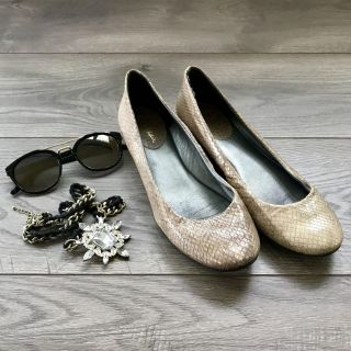 Cole Haan Nike Air Flats Snake Skin/Python Leather