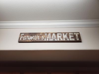 Distressed hand painted Farmers Market sign
