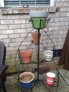 Antique metal plant stand - pots NOT included