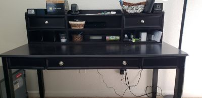 Desk with top drawers and organizer