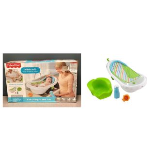 Fisher-Price 4-in-1 Sling Seat Convertible Baby Bath Tub, Green