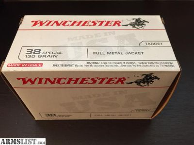 For Sale: 100 rounds 38 special - Winchester