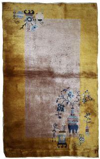 Handmade antique Art Deco Chinese rug, 1B637