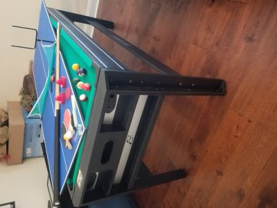 """Eastpoint Sports 72"""" 4 in 1 Swivel Games Table"""
