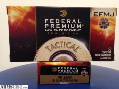For Sale: 100 rounds S &W 40 Federal