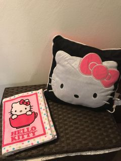 Pillow and soft Hello kitty book