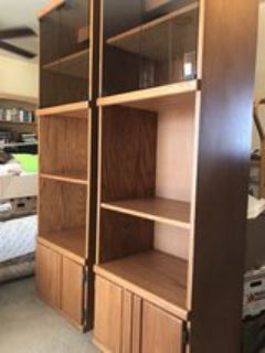 Two extra deep bookcases