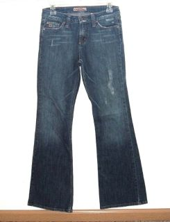Paris Blues Lightly Distressed Flare Denim Jeans Womens 5 Juniors Stretch