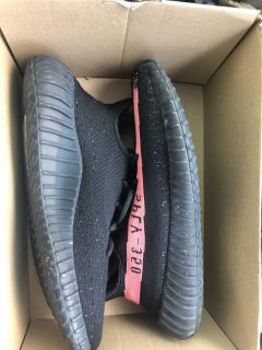 Yeezy 350 Boost v2 black and red