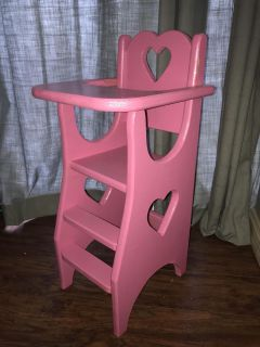 Real Wood baby doll high chair