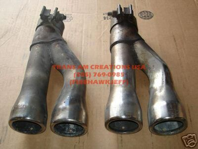 Purchase 93-97 LT1 Trans Am Stainless Dual Exhaust Tips motorcycle in Heflin, Alabama, US, for US $40.00