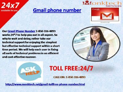 Quality Troubleshooting Now At Gmail Phone Number 1-850-316-4893