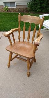 Heavy wood garden chair