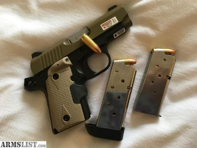 For Sale: Kimber micro 9 desert tan laser