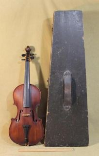 1855 Antique Isaiah H Arey American NH 44 Violin  Bow Perfect Original