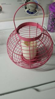 Candle holder pink