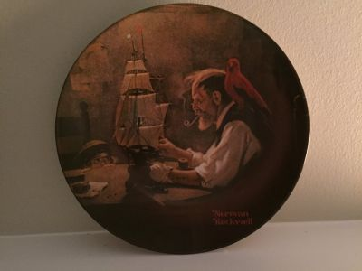"Norman Rockwell collector plate ""The Ship Builder"" 1980"