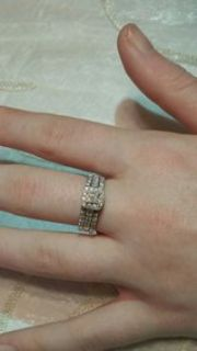 3 band ladies wedding ring