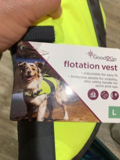 Dog flotation vest - new large