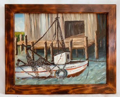 Peterson Vintage Painting Maritime Gloucester Boat