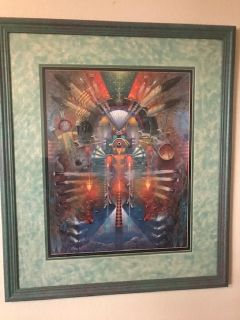 Framed Perkins giclee art print