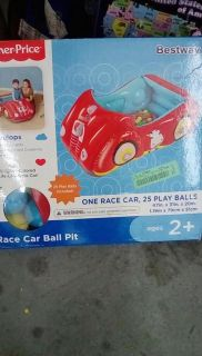 inflatable car with 25 balls