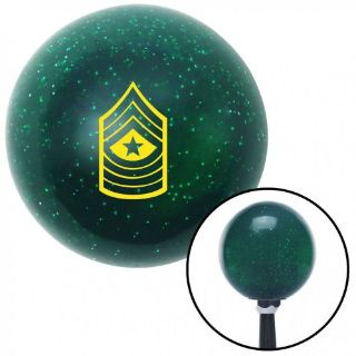 Sell Yellow 10 Sergeant Major Green Metal Flake Shift Knob with 16mm x 1.5 Insert rzr motorcycle in Portland, Oregon, United States, for US $29.95