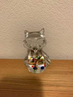 Glass owl 4 x 3